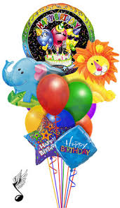 singing balloons delivery jungle singing balloon bouquet 11 balloons delivery by balloonz