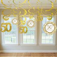50th anniversary ornaments 50th anniversary party decorating ideas 50th anniversary swirl