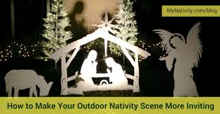 nativity outdoor how to make your outdoor nativity more inviting mynativity