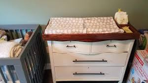 Vintage Baby Changing Table Refurbished A Beat Up Vintage Dresser Into A Baby Changing Table