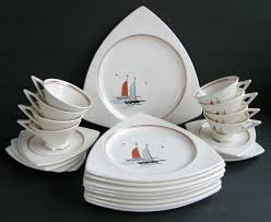 salem china atomic deco dinnerware set for 4 or 8