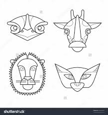 Halloween Printable Masks Templates by Diy Giraffe Mask Template Low Poly Giraffe Trophy Head Template