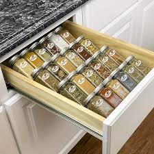 how to organize kitchen cupboards and drawers lynk professional spice rack tray insert 4 tier heavy steel drawer organizer for kitchen cabinets medium silver metallic