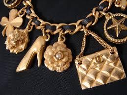 vintage charm bracelet necklace images Vintage chanel jewelry chanel charm bracelet 1994 JPG