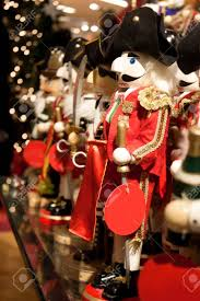 christmas nutcrackers christmas nutcrackers on display at a store stock photo