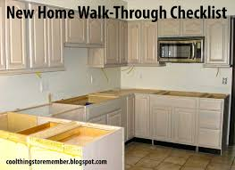 cool things to remember new home walk through checklist
