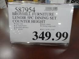 Dining Room Sets Costco Broyhill Lenoir 5 Piece Counter Height Dining Set