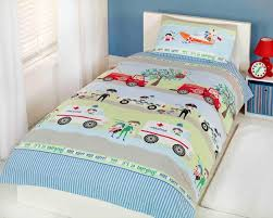 Girls Single Duvet Covers Changingbedrooms Com Emergency Vehicles Poly Cotton Kids Childrens
