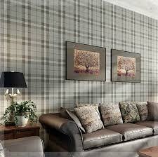 simple gray plaid wallpaper import ahlstrom non woven bedroom