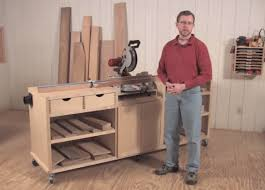 ultimate miter saw stand work station woodworking project plan