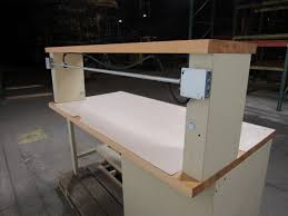 stanley vidmar 4 drawer work bench station 6 u0027x3 u0027 butcher block