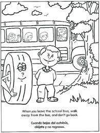 bus safety coloring pages free printable magic book page