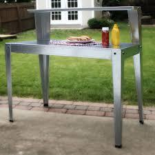 24 x 44 inch galvanized steel top utility table workbench potting