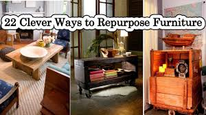 repurposing furniture 22 clever ways to repurpose furniture youtube