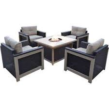 Fire Patio Table by Fire Pit Sets Outdoor Lounge Furniture The Home Depot
