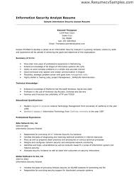How To Create Job Resume by Security Analyst Resume Berathen Com