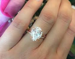 teardrop engagement rings gold teardrop ring etsy