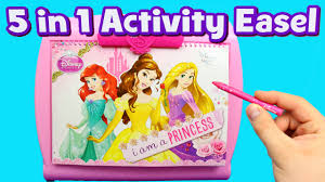 disney princess art easel color game u0026 drawing toy set fun