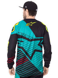 motocross jerseys alpinestars teal black fluorescent 2017 racer braap mx jersey