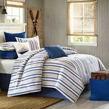 Blue Striped Comforter Set Lake Side Striped Comforter Bedding By Woolrich