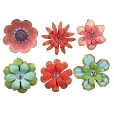 metal flowers flower magnet from creative co op