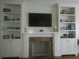 Fireplace Mantels With Bookcases Fireplace Mantel With Built In Cabinets Transitional Family