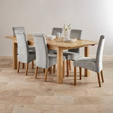 edinburgh extending dining set in oak dining table 6 chairs
