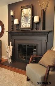 Fireplace Decorating Fireplace Makeover Before And After Brass Fireplace Screen Red