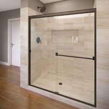 glass frameless shower doors vigo tempo 26 5 in x 70 625 in adjustable frameless shower door