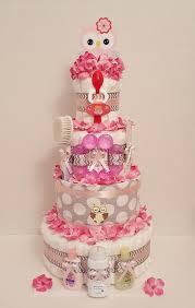diper cake owl chevron cake 4 tier cakes and baby shower