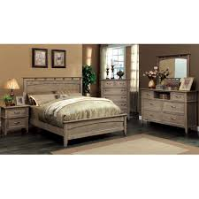 deals on bedroom sets furniture of america seashore 4 piece weathered oak bed set