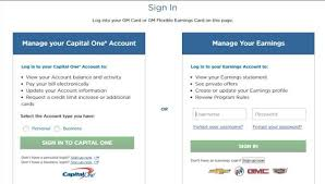 capital one business credit card login capital one gm credit card login to access account
