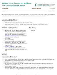 from present to past verbs with a u201cy u201d lesson plan education com