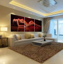 3 pieces set home decoration wall for bedroom living room beauty