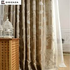 Silver Window Curtains Silk Flower Jacquard Window Curtains Heavy Fabric High Quality