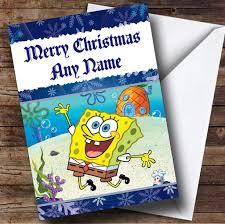 spongebob squarepants personalised birthday card the card zoo