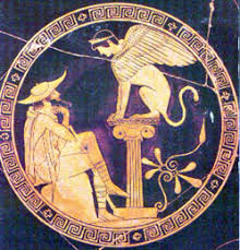 Oedipus Blinds Himself Enjoying