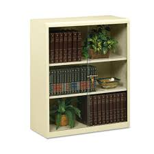 Metal Bookcases 3 Shelf Metal Bookcase W Locking Glass Doors Ultimate Office