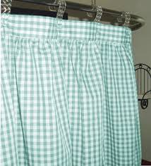 Mint Shower Curtain Gingham Check Fabric Shower Curtain