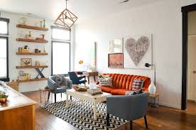 colorful geometric living room makeover u2022 vintage revivals
