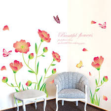 Beautiful Wall Stickers For Room Interior Design Beautiful Flowers Wall Decals Lounge Flowers U0026 Tree Wall Decals