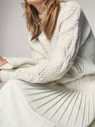 Seeking 1 Sezon 6 Bã Lã M Dzianinowy Sweter Z Ażurowymi Aplikacjami Z Działu Nowości