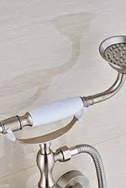 Two Handle Shower Faucet Brushed Nickel Votamuta Stainless Steel 6 Inch Centers Two Handle Bathroom