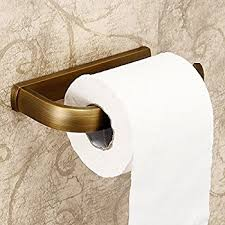 amazon com rozin wall mounted toilet paper holder antique brass