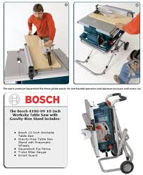 bosch 4100 09 10 inch table saw table saws lowes