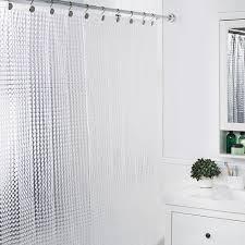Shower Curtain Clear Splash Cubic Shower Curtain Clear Kitchen Stuff Plus