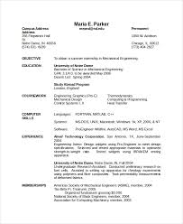 Mechanical Resume Examples by Attractive Inspiration Mechanical Engineering Resume Templates 8
