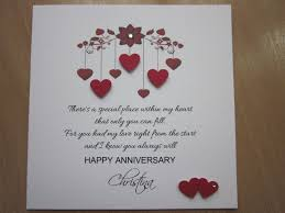 Anniversary Card For Wife Message Personalised Handmade Anniversary Engagement Wedding Day Card