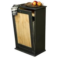 trash can cabinet insert wooden trash cans decorative kitchen or bins laundry handmade large