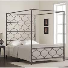 bedroom furniture antique black coating bed with voulted shape